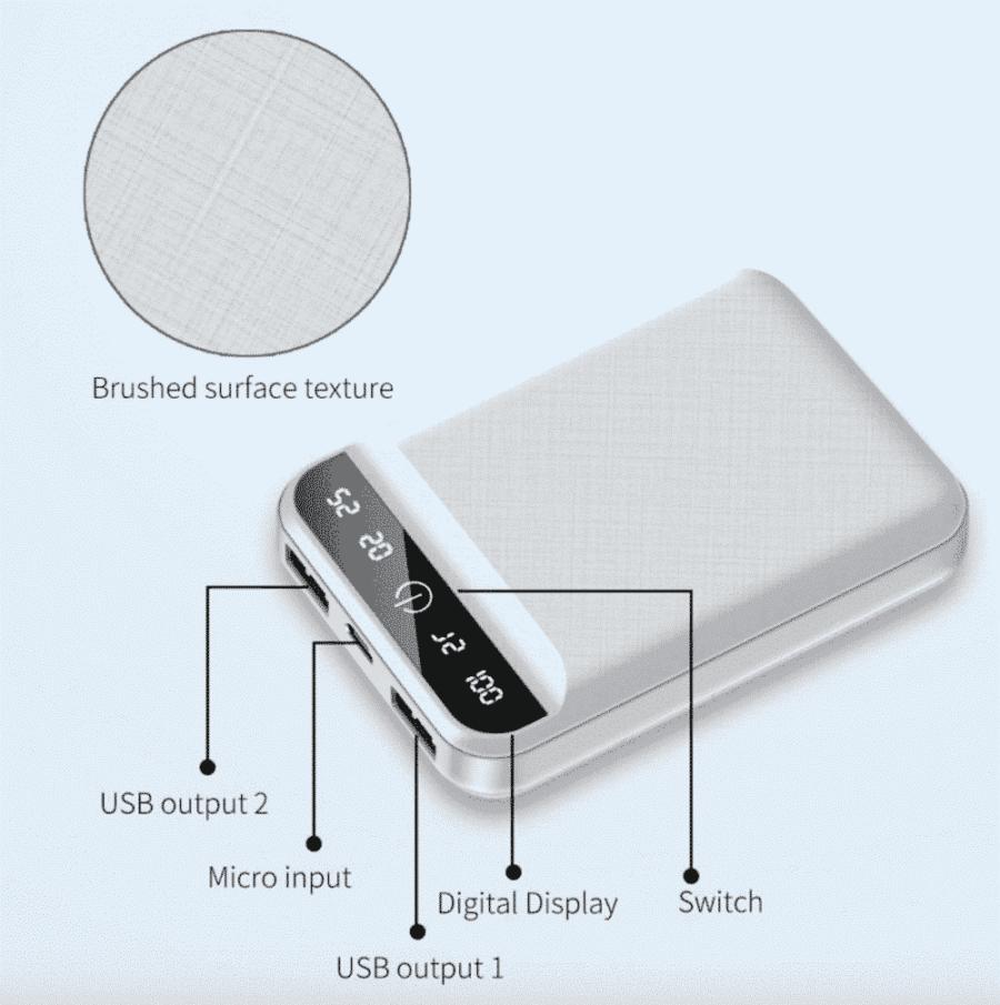 Batterie externe USB 4800mAh Connectiques | McPrice Paris Trocadero
