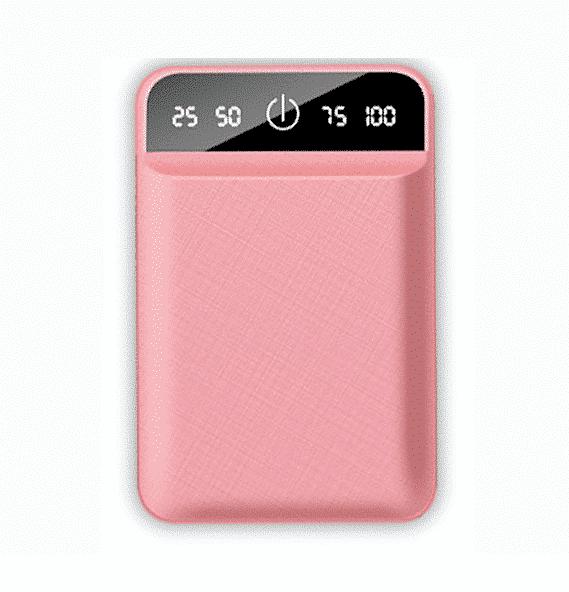 Batterie externe USB 4800mAh Rose | McPrice Paris Trocadero