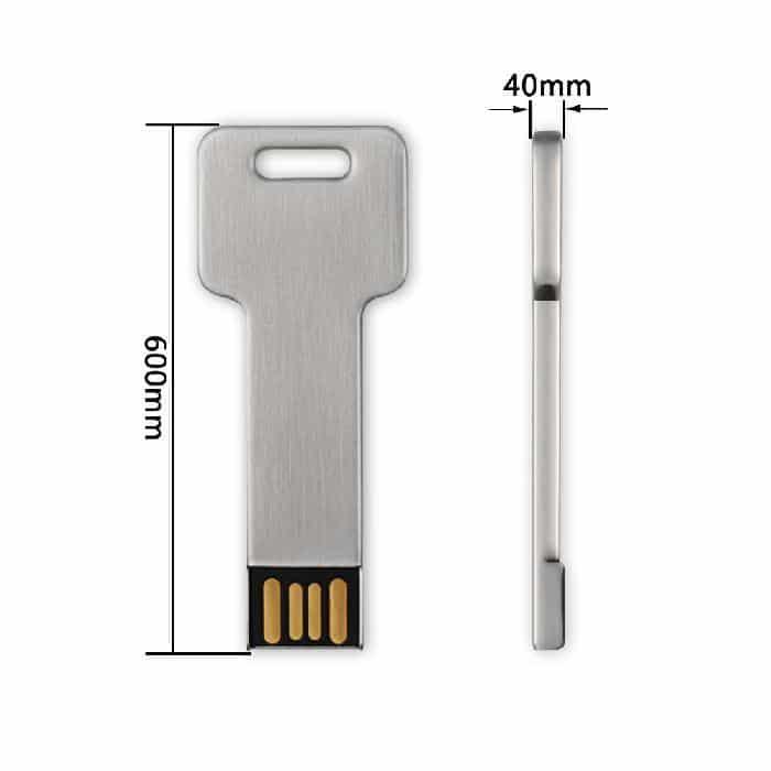 Clé 32 Go USB 2.0 Style Aluminium v2 McPrice Paris Trocadero
