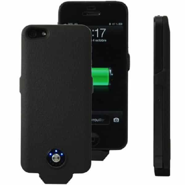 Coque avec batterie amovible 2500mAh pour iPhone 5/5S - Noir Accessoires Garantie 1 an | McPrice Paris Trocadéro