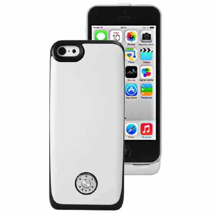 Coque avec batterie amovible 3000mAh pour iPhone 5/5S/5C - Blanc Accessoires Garantie 1 an | McPrice paris Trocadéro