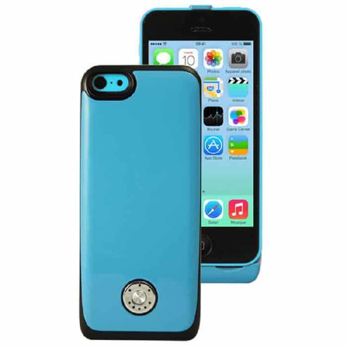 Coque avec batterie amovible 3000mAh pour iPhone 5/5S/5C - Bleu Accessoires Garantie 1 an | McPrice Paris Trocadéro