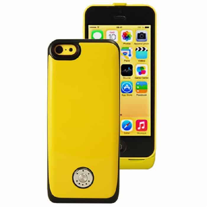 Coque avec batterie amovible 3000mAh pour iPhone 5/5S/5C - Jaune Accessoires Garantie 1 an | McPrice Paris Trocadéro