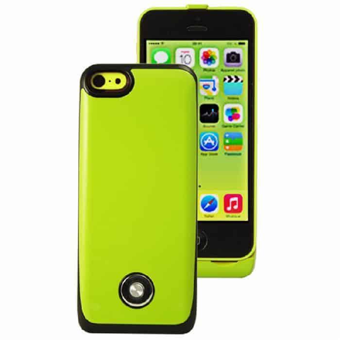 Coque avec batterie amovible 3000mAh pour iPhone 5/5S/5C - Vert Accessoires Garantie 1 an | McPrice Paris Trocadéro