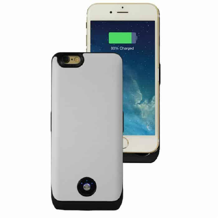 Coque avec batterie amovible 3000mAh pour iPhone 6 - Blanc Accessoires Garantie 1 an | McPrice Paris Trocadéro
