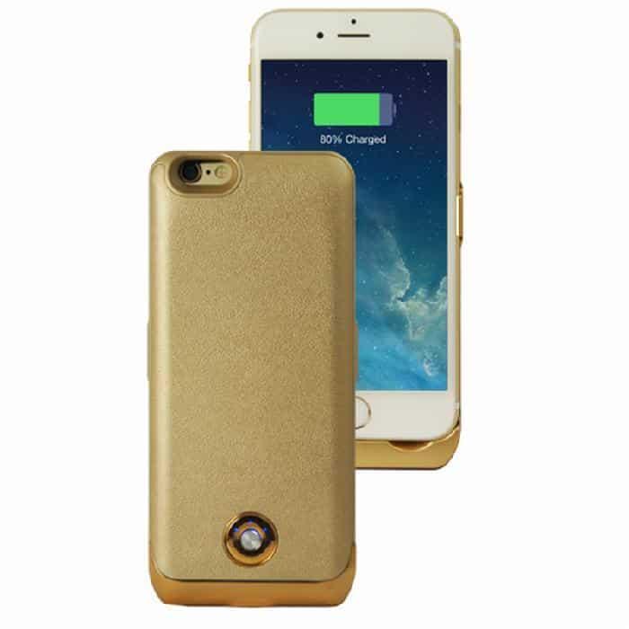 Coque avec batterie amovible 3000mAh pour iPhone 6 - Gold Accessoires Garantie 1 an | McPrice Paris Trocadéro