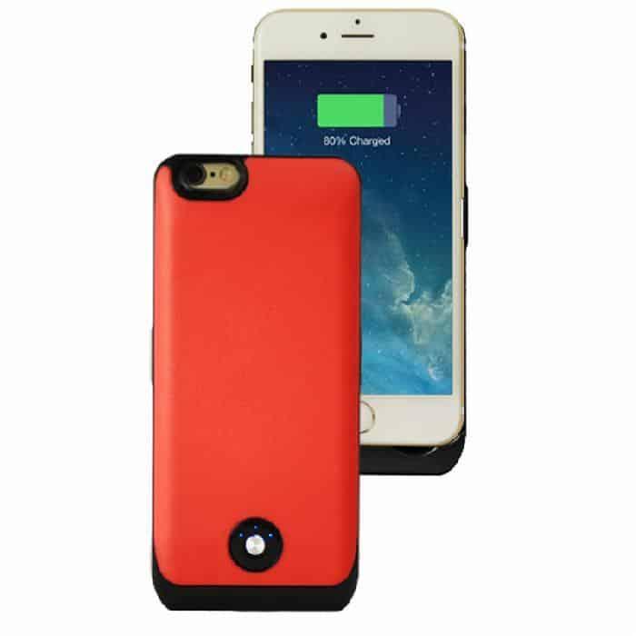 Coque avec batterie amovible 3000mAh pour iPhone 6 - Rose Accessoires Garantie 1 an | McPrice Paris Trocadéro