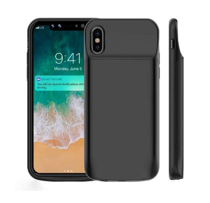 Coque avec batterie amovible 6000mAh pour iPhone X - Noir Accessoires Garantie 1 an | Mcprice Paris Trocadéro