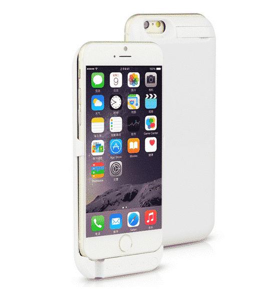 Coque avec batterie amovible 7000mAh pour iPhone 6/6S - Blanc Accessoires Garantie 1 an   McPrice Paris Trocadéro