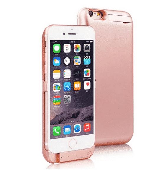 Coque avec batterie amovible 8200mAh pour iPhone 6/6S Plus - Rose Accessoires Garantie 1 an | McPrice Paris Trocadéro