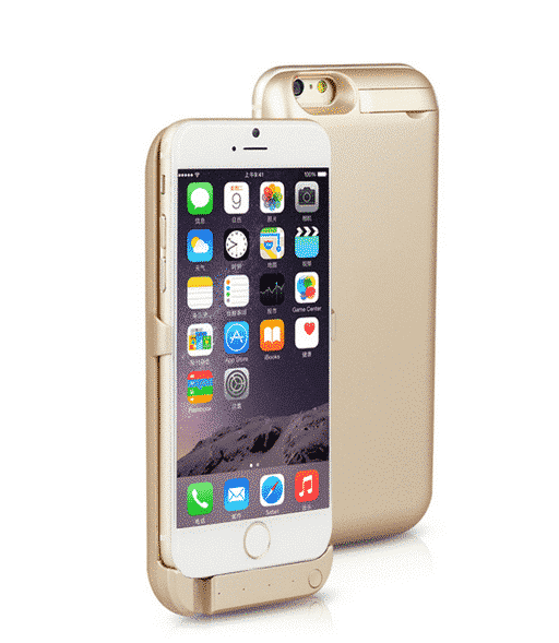 Coque avec batterie amovible 8200mAh pour iPhone 6/6S Plus - Gold Accessoires Garantie 1 an | McPrice Paris Trocadéro