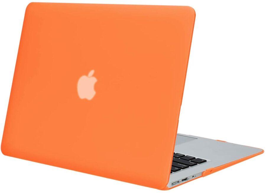 Coque de protection intégrale rigide mate pour MacBook Air 13 Pouces A1369 et A1466 – Orange_MacPrice Paris Trocadero v1