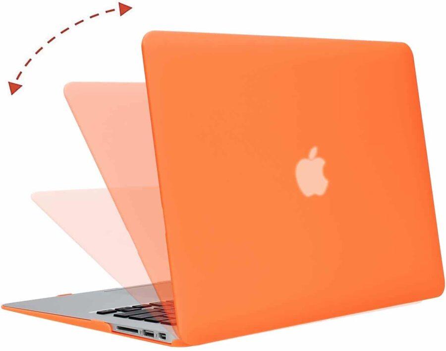Coque de protection intégrale rigide mate pour MacBook Air 13 Pouces A1369 et A1466 – Orange_MacPrice Paris Trocadero v2