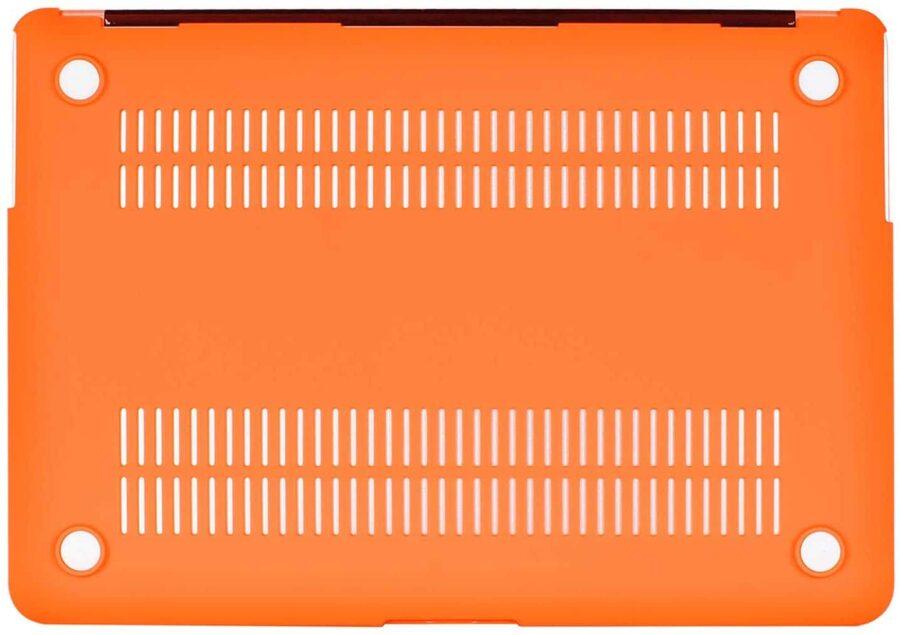 Coque de protection intégrale rigide mate pour MacBook Air 13 Pouces A1369 et A1466 – Orange_MacPrice Paris Trocadero v3
