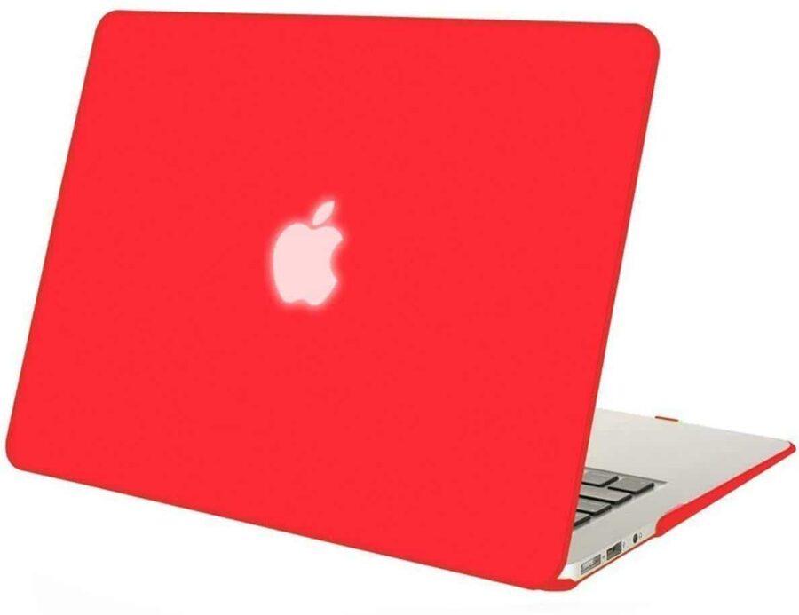 Coque de protection intégrale rigide mate pour MacBook Air 13 Pouces A1369 et A1466 – Rouge McPrice Paris Trocadéro v1