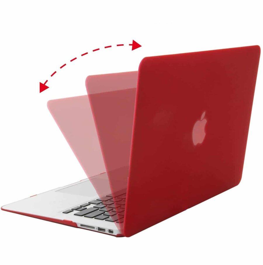 Coque de protection intégrale rigide mate pour MacBook Air 13 Pouces A1369 et A1466 – Rouge McPrice Paris Trocadéro v2