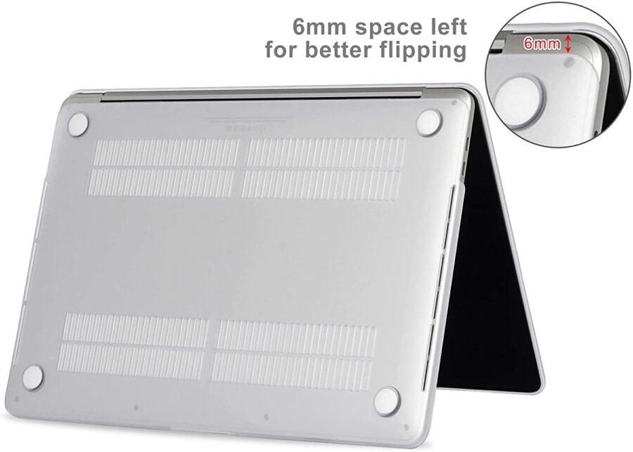 Coque de protection intégrale rigide mate pour MacBook Pro Rétina 13 Pouces A1706 et A1708 New – Transparente : McPrice Paris Trocadero v3