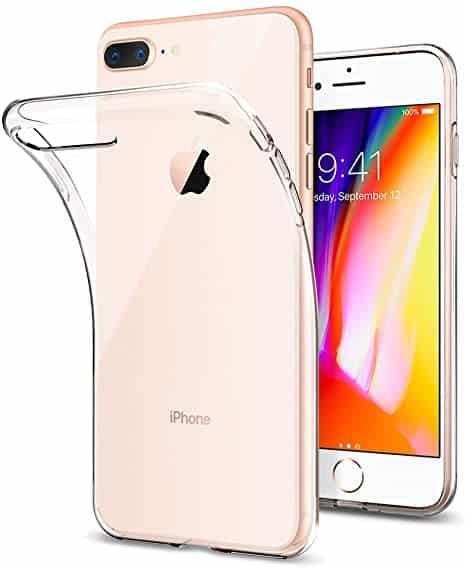 Coque iPhone 7 et 8 Plus Ultra Mince en gel 100 transparente Accessoires Garantie 1 an McPrice Paris Trocadéro v1