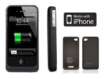 Coque pour iPhone 4 avec batterie intégrée 2000mah Accessoires Garantie 1 an | McPrice Paris Trocadéro