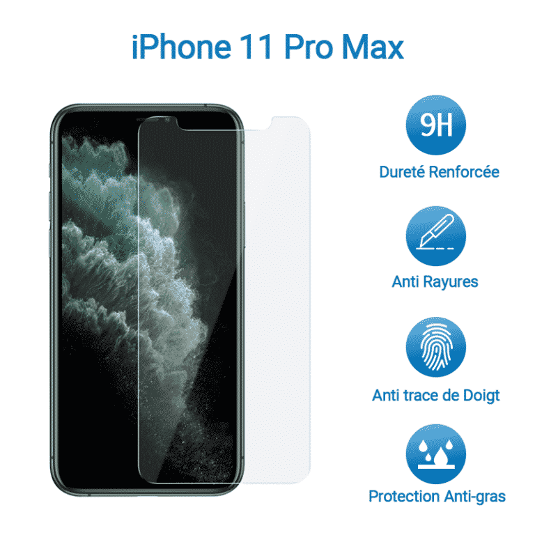 Film Verre Trempé Protection Avant pour iPhone 11 Pro Max | McPrice Paris Trocadero