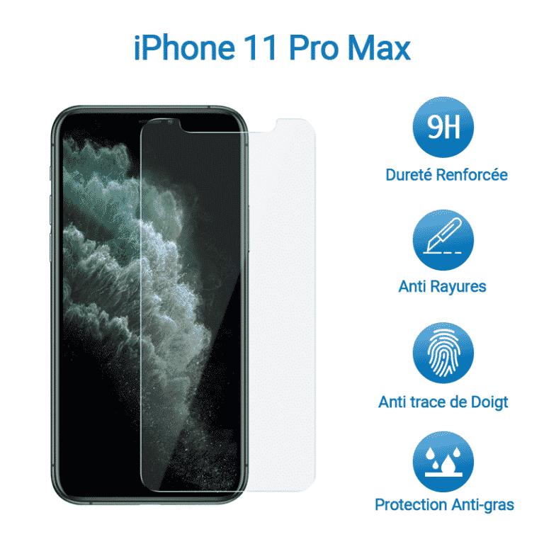 Film Verre Trempé Protection Avant pour iPhone 11 Pro Max | McPrice Paris Trocadero