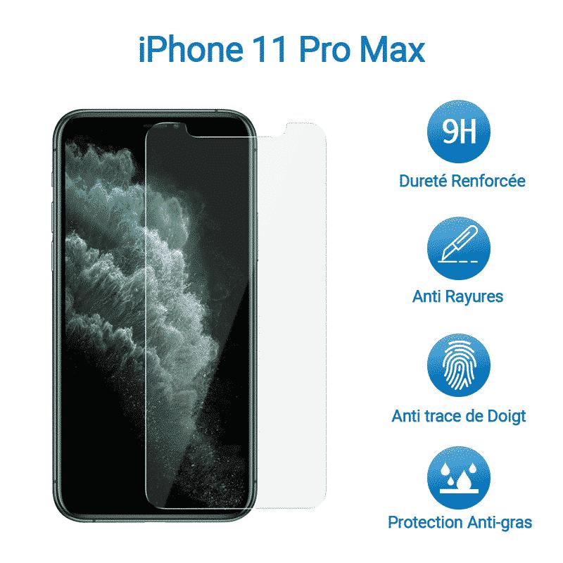 Film Verre Trempé Protection Avant pour iPhone 11 Pro Max   McPrice Paris Trocadero