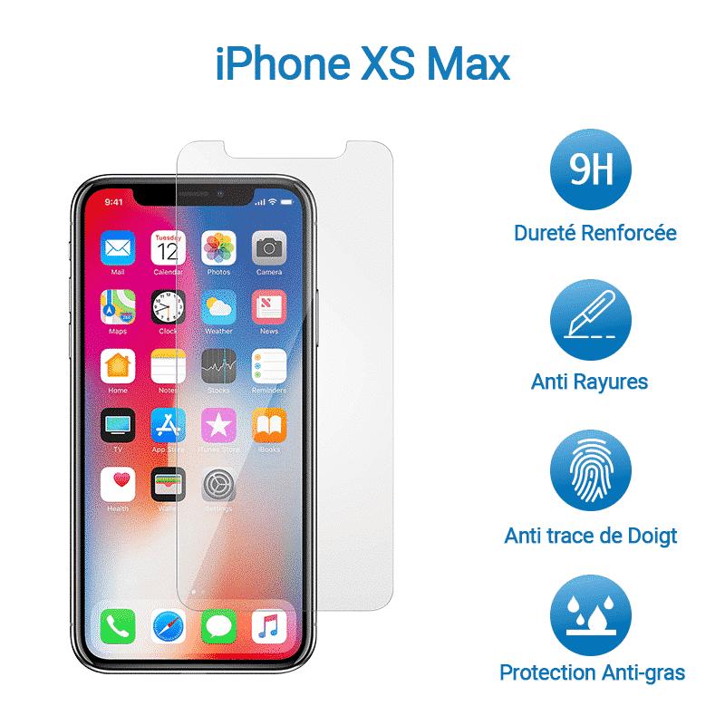 Film Verre Trempé Protection Avant pour iPhone XS Max | McPrice Paris Trocadero