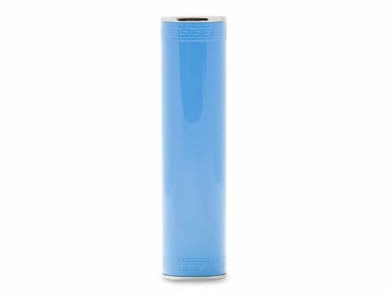 Power Bank Batterie externe portable Tube 3000 MAh Bleu v1 McPrice Paris Trocadero