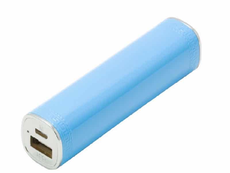 Power Bank Batterie externe portable Tube 3000 MAh Bleu v1.1 McPrice Paris Trocadero