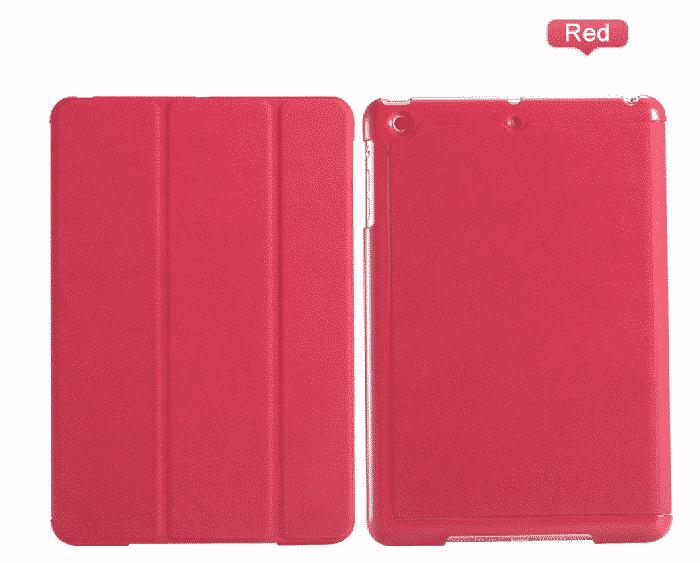 Slim Smart Cover Étui de protection pour Apple iPad 2/3/4 en Rouge fond plein / McPrice Paris Trocadédro 1