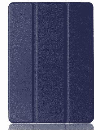 Slim Smart Cover Étui de protection pour Apple iPad Air 2 en Bleu foncé fond transparent   McPrice Paris Trocadéro