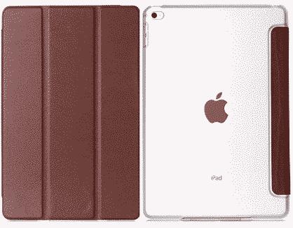 Slim Smart Cover Étui de protection pour Apple iPad Air 2 en Marron fond transparent | McPrice Paris Trocadéro