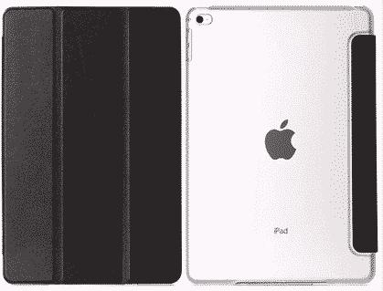 Slim Smart Cover Étui de protection pour Apple iPad Air 2 en Noir fond transparent | McPrice Paris Trocadéro