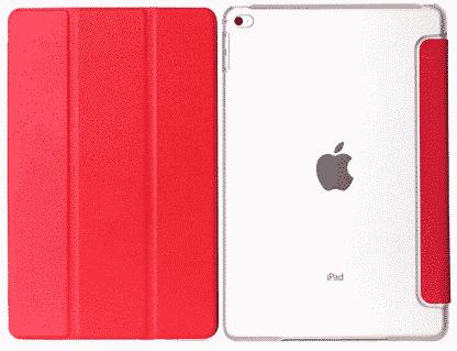 Slim Smart Cover Étui de protection pour Apple iPad Air 2 en Rouge fond transparent   McPrice Paris Trocadéro