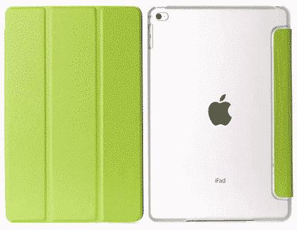 Slim Smart Cover Étui de protection pour Apple iPad Air 2 en Vert fond transparent   McPrice Paris Trocadéro