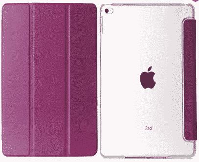 Slim Smart Cover Étui de protection pour Apple iPad Air 2 en Violet fond transparent | McPrice Paris Trocadéro