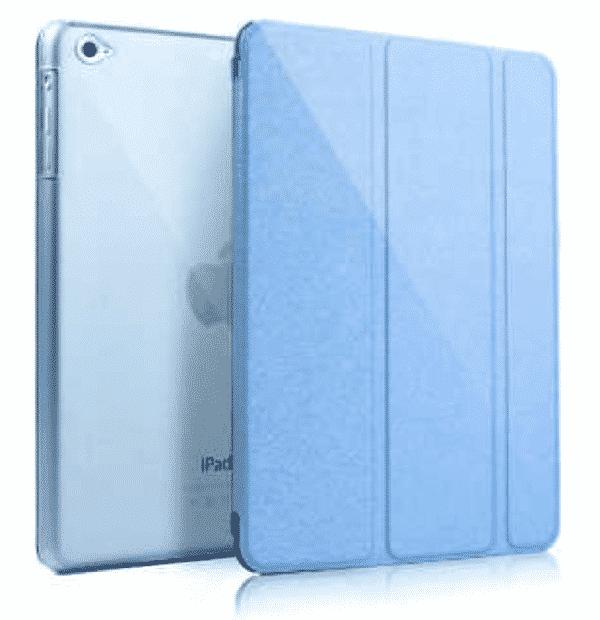 Slim Smart Cover Étui de protection pour Apple iPad Air en Bleu Ciel fond transparent | McPrice Paris Trocadéro
