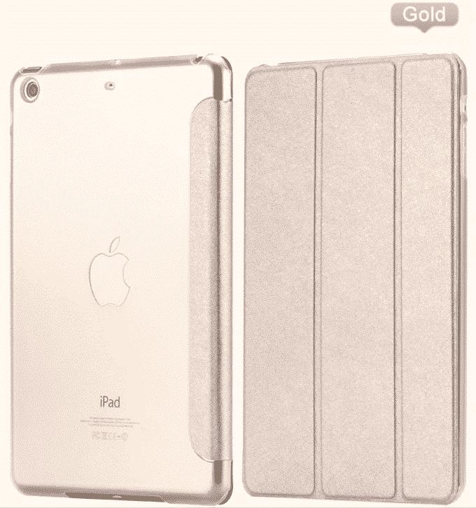 Slim Smart Cover Étui de protection pour Apple iPad Air en Gold fond transparent | McPrice Paris Trocadéro