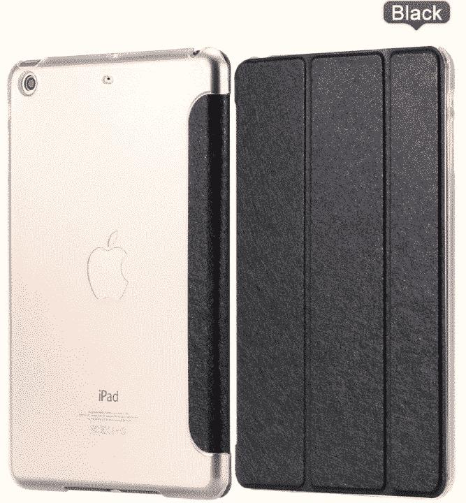 Slim Smart Cover Étui de protection pour Apple iPad Air en Noir fond transparent | McPrice Paris Trocadéro
