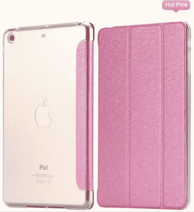 Slim Smart Cover Étui de protection pour Apple iPad Air en Rose fond transparent | McPrice Paris Trocadéro