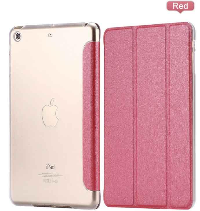 Slim Smart Cover Étui de protection pour Apple iPad Air en Rouge fond transparent | McPrice Paris Trocadéro