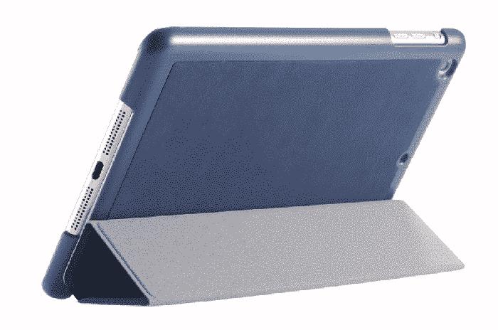 Slim Smart Cover Étui de protection pour Apple iPad Mini 1/2/3 en Bleu Marrine fond plein | McPrice Paris Trocadéro