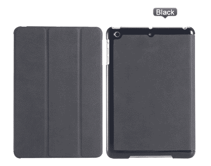 Slim Smart Cover Étui de protection pour Apple iPad Mini 1/2/3 en Noir fond plein | McPrice Paris Trocadéro