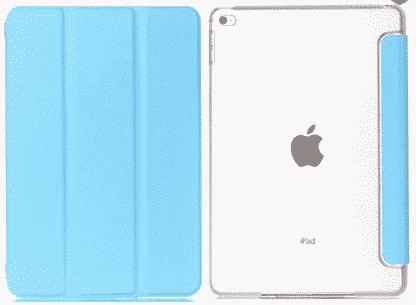 Slim Smart Cover Étui de protection pour Apple iPad Mini 4 en Bleu Ciel fond transparent | McPrice Paris Trocadéro