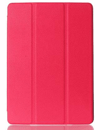 Slim Smart Cover Étui de protection pour Apple iPad Mini 4 en Rose fond transparent   Mcprice Paris Trocadéro