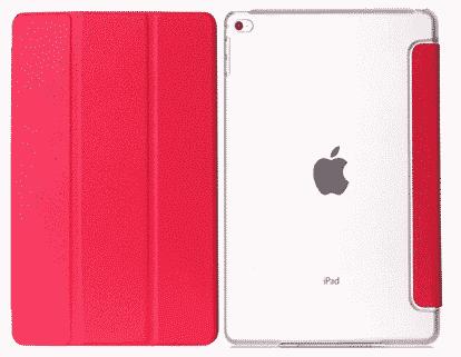 Slim Smart Cover Étui de protection pour Apple iPad Mini 4 en Rose fond transparent | Mcprice Paris Trocadéro