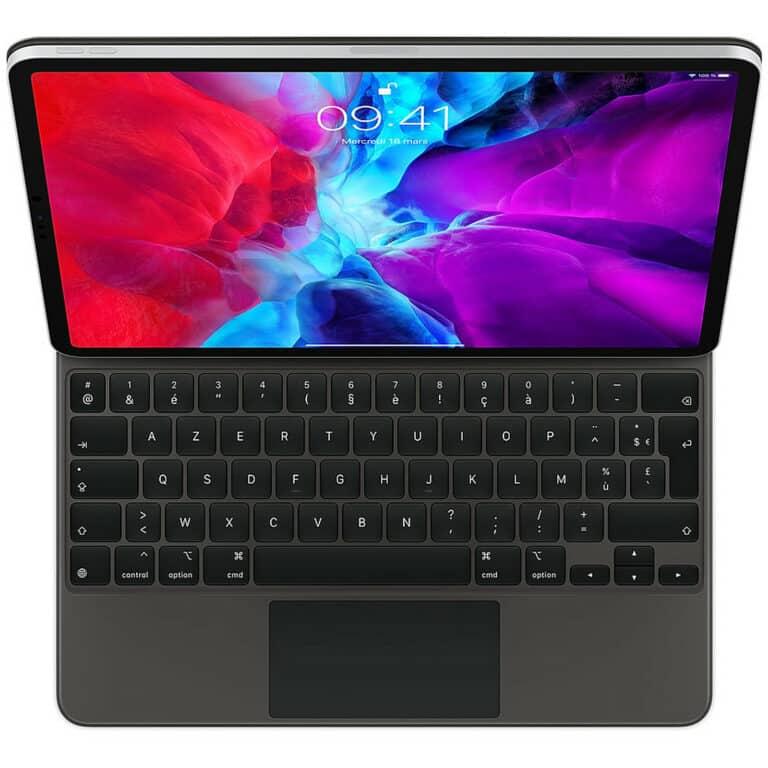 "Apple Magic Keyboard iPad Pro 12.9"" (2020) - (FR) Apple Smart Keyboard Folio iPad Pro 12.9"" (2018) - (FR) Accessoires Garantie 1 an en Stock   McPrice Paris Trocadéro"