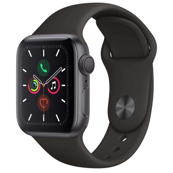 Apple Watch Series 5 GPS Aluminium Argent Bracelet Sport 40 mm - Noir - Neuf Garantie 1 an en Stock | Trocadéro Paris