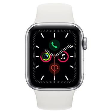 Apple Watch Series 5 GPS Aluminium Argent Bracelet Sport 44 mm - Blanc - Neuf Garantie 1 an en Stock | Trocadéro Paris