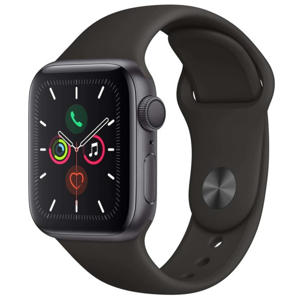 Apple Watch Series 5 GPS Aluminium Argent Bracelet Sport 44 mm - Noir - Neuf Garantie 1 an en Stock | Trocadéro Paris